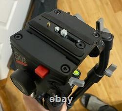 Manfrotto Carbon Fiber ENG Tripod with Bag 503/3460 Video Head 442/3445 Leg 4 DSLR