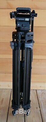 Miller Arrow 55 Fluid Head with Miller 2- Stage Sprinter II Carbon Fiber Tripod