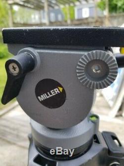Miller DS20 Carbon Fiber tripod system, 75mm ball head, excellent condition