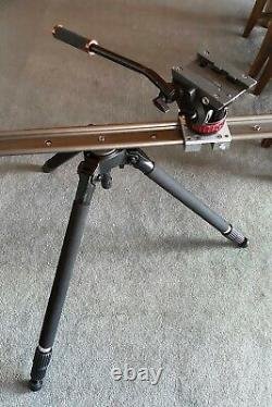 Miller SOLO DV CF 2-Stage Tripod + Manfrotto 502AH Fluid Head + Bag + 40 Dolly