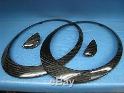 Mini R55, R56, R57, R58, R59 Carbon fiber Head Lamp Trims with washer covers