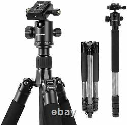 Moman Carbon Fiber Camera Tripod Monopod with Ball Head For Canon Nikon Pentax