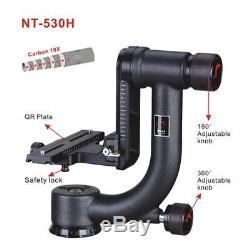 NEST NT-530H MKII Carbon Fiber Pro Tele Lens Gimble Head QR Plate