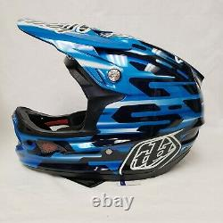 NEW Troy Lee Designs D3 Carbon MIPS Downhill MTB Bicycle Helmet Code Blue Large