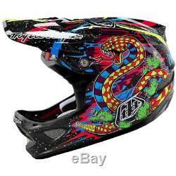 NEW Troy Lee Designs TLD D3 Carbon MTB Bicycle Helmet Blacklight Black Large