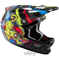 NEW Troy Lee Designs TLD D3 Carbon MTB Bicycle Helmet Blacklight Black Medium