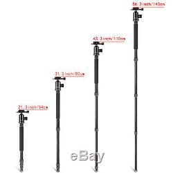 Neewer Carbon Fiber 66 Camera Tripod Monopod with 360 Ball Head Load up to 12KG