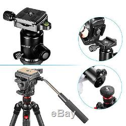 Neewer Carbon Fiber 66 Tripod Monopod with 360 Degree Ball Head for DSLR Camera