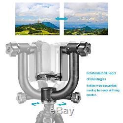 Neewer Heavy Duty Carbon Fiber 360 degree Panoramic Gimbal Tripod Head