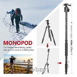 Neewer Portable Carbon Fiber Camera Tripod Monopod With 360 Degree Ball Head