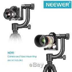 Neewer Pro Heavy Duty Carbon Fiber 360 degree Panoramic Gimbal Tripod Head