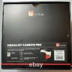 New Bolle Medalist Carbon Pro Snowboard Ski Racing Helmet L/XL 57-60 CM FIS Red