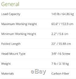 New Novoflex TrioPod PRO75 Carbon Fiber Tripod + MagicBalance 75mm Leveling Head