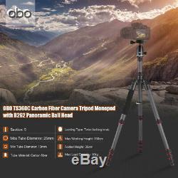 OBO Carbon Fiber Foldable Tripod Monopod With Ball Head for DSLR Cameras Z5K4
