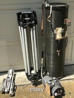 O'Conner 100C-HD fluid head and heavy duty tripod, case, etc
