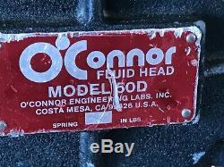 O'connor Fluid Head 50d Aluminium Tripod