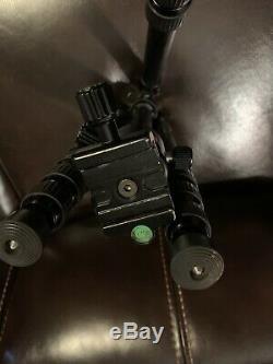 Oben CT-3586 BZ-226T Carbon Fiber Folding Travel Tripod With Ball Head + Extras