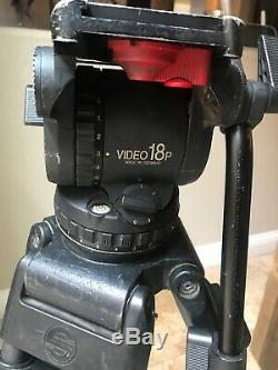 Old School Sachtler 18P Fluid Head and Carbon Fiber Tripod ENG 2 CF HD 5390