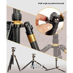 Portable Travel Q888C Carbon Fiber Camera Tripod Monopod With Ball Head For DSLR