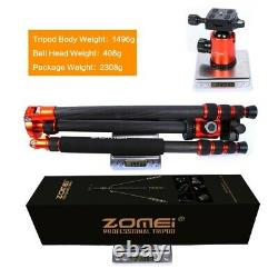 Pro Carbon Fiber Tripod Z818C Travel Monopod&Ball Head Portable for DSLR Camera