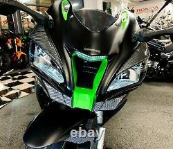 Real Carbon Fiber HEAD light fairing trim protector pad fit Kawasaki Ninja ZX10R