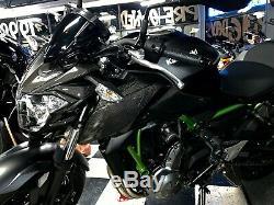Real carbon fiber Fit Kawasaki Z650 HEAD light fairing Trim full KIT overlay