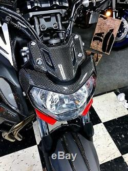 Real carbon fiber Fit Yamaha MT07 MT-07 FJ07 HEAD light fairing Trim full KIT