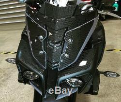 Real carbon fiber Fit Yamaha MT10 MT-10 FZ10 HEAD light fairing Trim full KIT