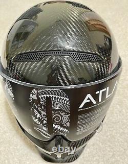 Ruroc Atlas 3.0 Liquid Carbon Motorcycle Helmet Size Large