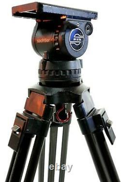 SACHTLER DV12TB HEAD CARTONI CF CARBON LEG MIDSPREAD PLATE BAR BAG SERVICED 31Lb