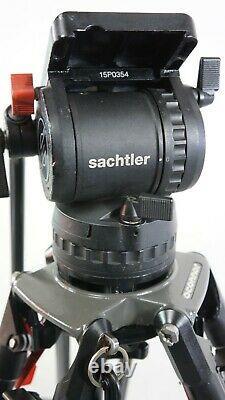SACHTLER DV15 HEAD O'CONNOR CF CARBON FIBER TRIPOD SYS 35L BAR PL SERVICED 33Lb