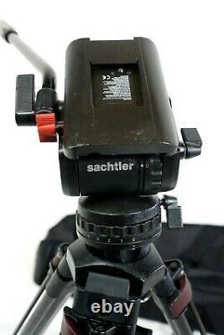 SACHTLER FLUID HEAD DV8 CF CARBON FIBER TRIPOD SYS BAR KNOB PL BAG SERVICED 20Lb