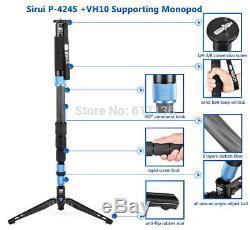 SIRUI P-424SR Carbon Fiber Monopod Tripod Professional Tripod Camera VH10 Head