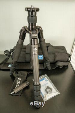 SIRUI T-1205X Tripod Portable Folding Carbon Fiber WithO Ball Head