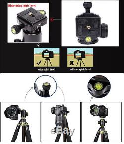 SYS500C Pro Carbon Fiber Tripod Monopod&Ball Head Compact Travel for DSLR Camera