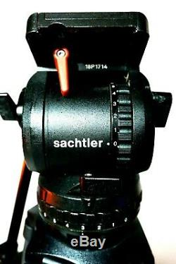 Sachtler 18P FLUID HEAD CF CARBON FIBER 5383 100L SYS GR SPR TUBE SERVICED 40Lbs