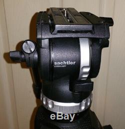 Sachtler Ace Fluid Head Tripod with Quick Plate 75 Carbon Fiber Leg & Carry Case