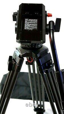 Sachtler CADDY VIDEO 18 II HEAD CF L TRIPOD SYS SP100 TELBAR BAG SERVICED 44Lbs