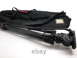 Sachtler FSB 6 fluid head & TT 75/2 CF telescopic 75mm tripod 3.3-17.6 lb loads