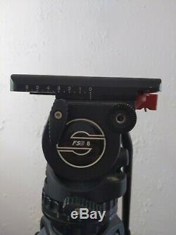 Sachtler FSB 8 Fluid Head, Quick Plate, Carbon Fiber Tripod with case