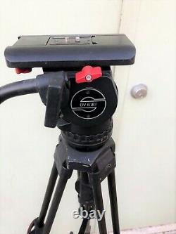 Sachtler System DV 6 SB Fluid Head Touch and Go Plate Speed Lock tripod