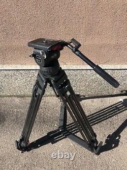 Sachtler System Video 18P Fluid Head Tripod Spreader Pan Handle Case Plate 16