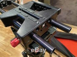 Sachtler Telescopic Tripod TT 75/2 CF with FSB 6 FSB-6 Fluid Head Case & Kessler