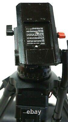 Sachtler VIDEO 18P PLUS FLUID HEAD Tripod 5186 SP100 TBAR PL BAG SERVICED 44Lbs