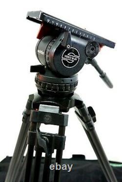 Sachtler VIDEO 18 SB HEAD CF CARBON Tripod L SP150/100 TBAR PL BAG SERVICED 40Lb