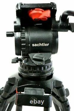 Sachtler VIDEO DV12 HEAD CF CARBON Tripod 5382 L SP150 BAR PL BAG SERVICED 26Lbs