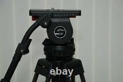 Sachtler Video 18P 100MM Bowl Head +Sachtler 2Stage Carbon Fiber Tripod legs+bag