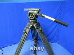 Sachtler Video 18 III 100mm Head with 2 Stage Carbon Fiber Tripod, Spreader
