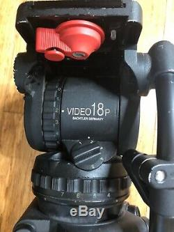 Sachtler Video 18 P Fluid Head & ENG Tripod System with Ground Spreader