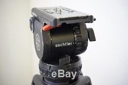 Sachtler Video 18 P (plus) head CF-100ENG 2CF Carbon Fiber Tripod legs + case